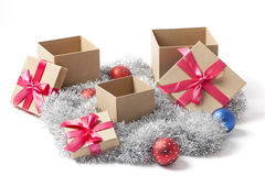 Open Christmas Gift Boxes Stock Images