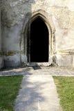 Open church door stock image