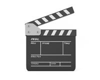Open clapboard. On white background. Film movie clapper Stock Photography
