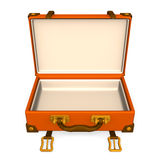 Open Classical Luggage Front.  Royalty Free Stock Image