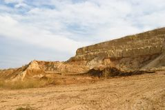 An open clay pit. In Ukraine Royalty Free Stock Photos