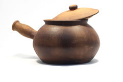 Open clay pot Royalty Free Stock Images