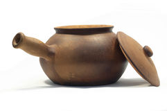 Open clay pot Stock Photos