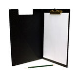 Open clipboard with pen Royalty Free Stock Photo