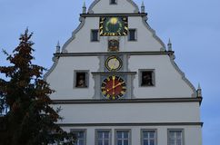 Open Clock Tower in Rothenburg ob der Tauber, Germany stock image