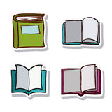 Open and close book and literature design. Open and close book icon. Education literature reading and library theme. Isolated design. Vector illustration Stock Photography