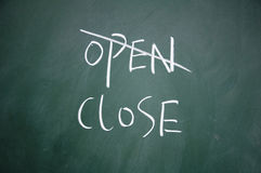 Open and close choice Stock Image