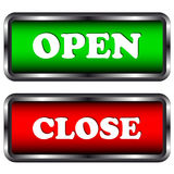 Open and close icons Royalty Free Stock Images