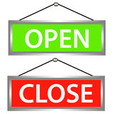 Open and close icons Royalty Free Stock Image
