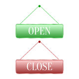 Open and close icons on a white background Royalty Free Stock Image
