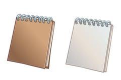 Open and close notebook Stock Photos