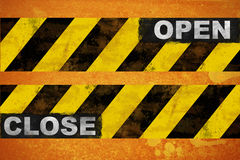 Open close sign Stock Photo