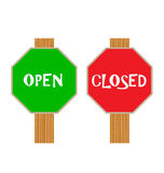 Open and Close Sign Royalty Free Stock Images