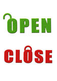 Open close sign board. In white background Stock Images