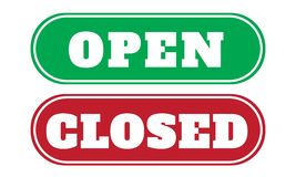 open and close sign board royalty free illustration