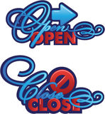 Open Close sign Royalty Free Stock Image