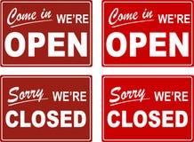 Open Close Signs (Vector) Stock Photos