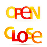 Open and close signs Stock Image