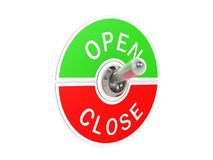 Open close toggle switch Royalty Free Stock Images