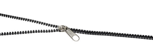 Open-close zipper Royalty Free Stock Images