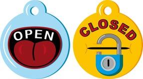 Open closed Stock Photo