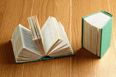 Open and closed books Stock Images