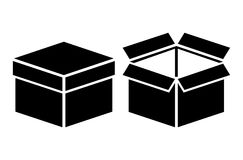 Open closed box icon
