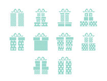 Open and closed box icons. Simple set of box and crates related vector icons for your design Royalty Free Stock Photos