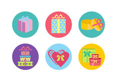 Open and closed box icons. Simple set of box and crates related vector icons for your design Stock Images