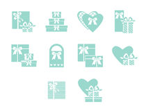 Open and closed box icons Royalty Free Stock Photography