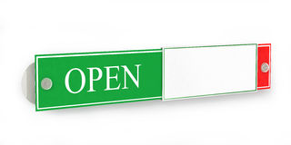 Open And Closed Door Signs Board, Royalty Free Stock Photo