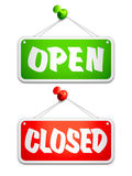 Open and Closed Door Signs Royalty Free Stock Photos