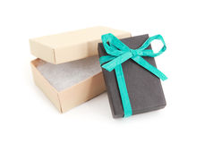 Open and closed gift boxes Stock Images