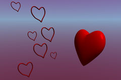 Open and Closed Hearts Royalty Free Stock Photo