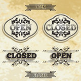 Open and Closed Stock Photo