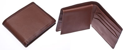 Open and Closed Men's Wallet Stock Image