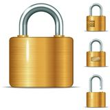 Open and closed padlocks Stock Image