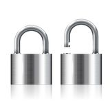Open and closed padlocks Royalty Free Stock Photos