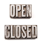 Open & Closed Royalty Free Stock Images