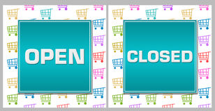Open Closed Shopping Cart Background Stock Photography