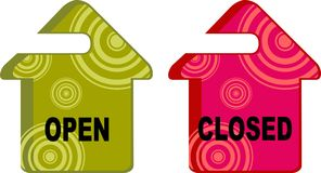 Open closed sign Stock Photo