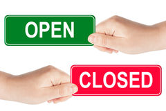 Open and closed sign Royalty Free Stock Photos