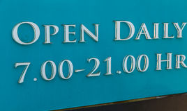 Open and Closed Sign Royalty Free Stock Photography