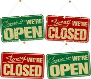 Open & Closed Signs Royalty Free Stock Photography