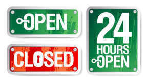 Open and Closed Signs. Vector Open and Closed Signs Stock Photography