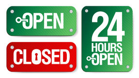 Open and Closed Signs. Vector Open and Closed Signs Royalty Free Stock Photography