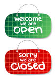 Open and Closed Signs Stock Image