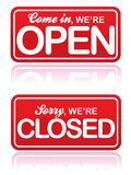 Open and Closed Signs EPS Stock Photography