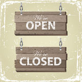 Open and closed signs Stock Photos