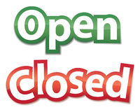 Open And Closed Signs. Vector illustration Royalty Free Stock Photography